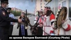 Акция протеста коренных народов в Норильске