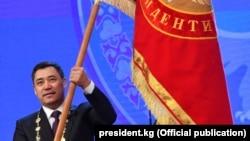 Президент Садыр Жапаров инаугурация учурунда. 28-январь, 2021-жыл.