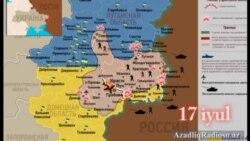 Ukraynanın şərqində gedən döyüşlərin xəritəsi (İyunun 27-dən iyulun 20-dək)