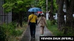 Дождь в Севастополе, 17 июля 2021 года (иллюстративное фото)