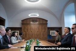 Orbán Viktor miniszterelnök a sanghaji Fudan Egyetem vezetőivel tárgyalt 2019 októberében