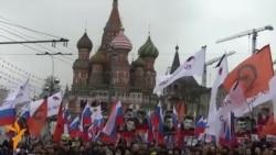 Moskvada Nemtsov-un xatirə yürüşü