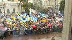 Поки українці протестували проти підвищення тарифів, Рада не працювала (відео)