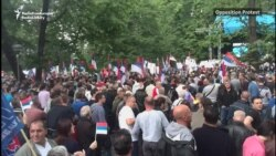 Protests For And Against Bosnian Serb Government In Banja Luka