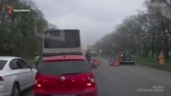 Въезд в Симферополь затруднен из-за ремонта дороги (видео)