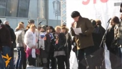 Митинг на Новом Арбате: Русь Сидящая