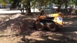 В Симферополе строят парковку без сметы (видео)