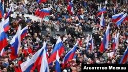 Концерт на стадионе «Лужники», посвященный седьмой годовщине аннексии Крыма. Москва, 18 марта 2021 года