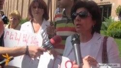 Կոմիտաս 5-ի շինարարությունից դժգոհ բնակիչները բողոքի ակցիա անցկացրին