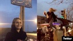 مریم شریعتمداری در زمستان ۱۳۹۶ در خیابان انقلاب تهران حجاب از سر برداشت