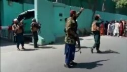Video Shows Taliban Backing Off From Protesters