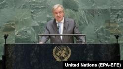 انتونیو گوترش، منشی عمومی سازمان ملل متحد