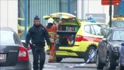 Полиция и спасатели в районе метростанции Маельбек в Брюсселе