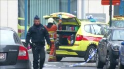 "Брюссельнең ""Мальбек"" метросы янында полиция һәм коткаручылар"