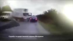 Молдовада президентнинг машинаси ағдарилиб кетди
