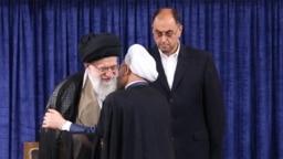 وحید حقانیان در مراسم تنفیذ حکم ریاستجمهوری حسن روحانی، مرداد ۱۳۹۶