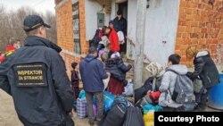 Relokacija migranata u kamp Borići, Unsko-sanski kanton, 5.mart 2021.