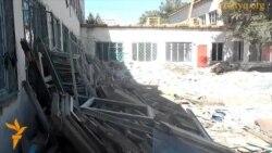 Незавершенный ремонт в школе