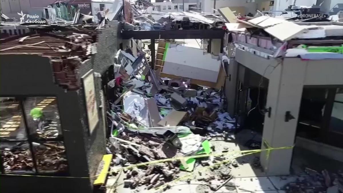 Последствия торнадо в городе Нашвилле – видео с дрона