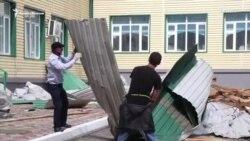 Ураган в Чечне: 11 пострадавших