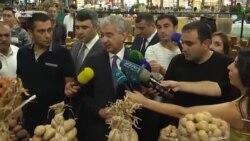 Baş nazirin müavini satıcıya: 'Yayda 2 manata kartof olmaz'