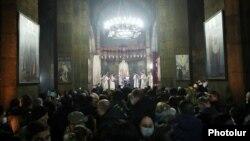 Ճրագալույցի պատարագը Սուրբ Գայանե վանքում, Մայր Աթոռ Սուրբ Էջմիածին, 5-ը հունվարի, 2021թ.