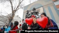 Цепь солидарности в Москве, 14 февраля 2021 года