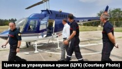 Директорот на ЦУК, Стојанче Ангелов со експерти за високоризични пожари од Франција.