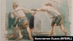 """А.Нюренберг. """"Откатчицы"""". 1937 г."""