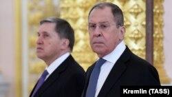 Xarici işlər naziri Sergey Lavrov (sağda) və Putinin köməkçisi Yuri Uşakov 70 yaşı keçiblər