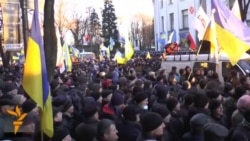 Protesters Outside Ukrainian Parliament Demand Government Resignation