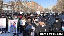 Уральсктагы митинг. 28-февраль, 2021-жыл