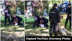 Filmul uciderii lui Ioan Csapai. Jandarmii eșuează să-l încătușeze, după care jandarmul Ana-Maria Florescu pulverizează cu spray lacrimogen, la comanda unui coleg. În scurt timp, bărbatul suferă un stop cardio-respirator.