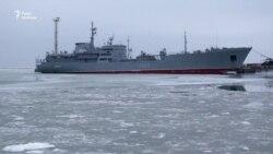 Порт Маріуполя під час блокади Азова