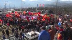 Cetinjani protestovali protiv litija SPC