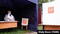 Участок для голосования в Калининградской области