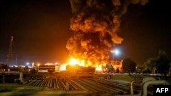 Authorities said the fire at the Tondgooyan refinery was triggered by a gas leak.