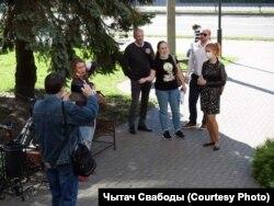 Пасьля суду аб ліквідацыі аб'яднаньня «Талака» ў Гомлі.