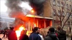 Mostar: Demonstranti zapalili zgradu Vlade HNK