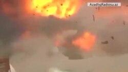 İŞİD yaraqlısının idarə etdiyi zirehli yük maşını belə partladılır (dramatik video)