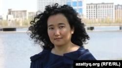 Artcom шығармашылық платформасының негізін қалаушы Әйгерім Қапар. Нұр-Сұлтан, 2 қыркүйек 2020 жыл.