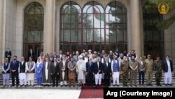 رهبران سیاسی و جهادی در ارگ ریاست جمهوری