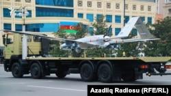 Турецкий дрон на параде в Баку