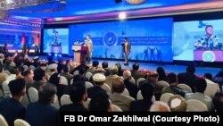 حضرت عمر زاخیل وال رهبر حرکت حزب حرکت راه نجات افغانستان در نشست این حزب