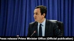 Kryeministri i Kosovës, Albin Kurti. Fotografi nga arkivi.