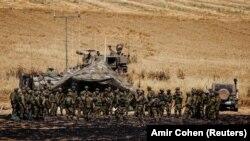 Израильские войска на границе с сектором Газа, Израиль, май 2021 года