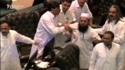 Pakistani Lawmakers Face Off In Provincial Assembly Ruckus