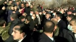 Armenian Prime Minister Heckled During March To Mourn War Victims