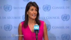 U.S. Ambassador to the United Nations Nikki Haley Speaking On Iran And IAEA
