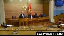 Premijer Crne Gore Zdravko Krivokapić u Parlamentu Crne Gore, Podgorica 24. jun 2021.